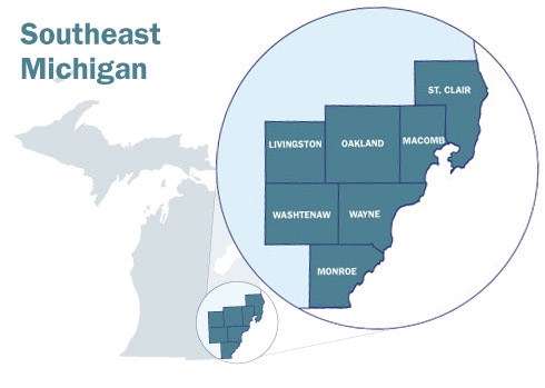 Southeast Michigan Map